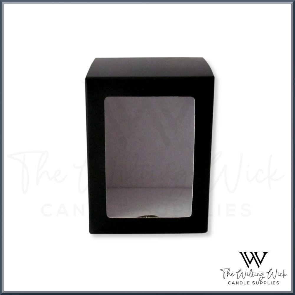 Black Danube Box Windowed Flat Lid