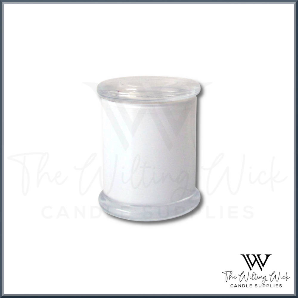Opaque White Danube Candle Jar Including Flat Lid