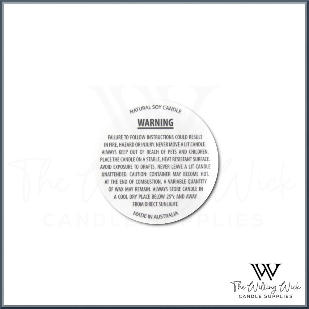 Candle Warning Label 40mm