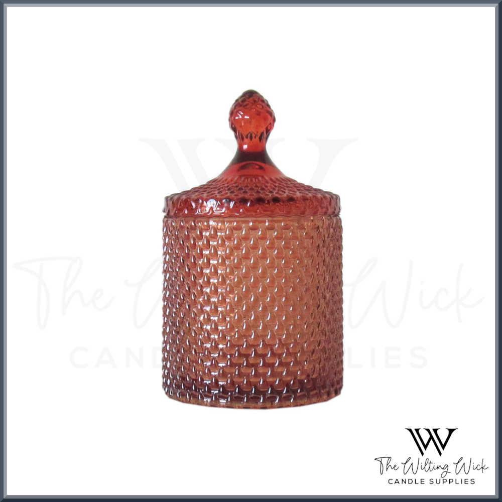 Amber Teardrop Jar