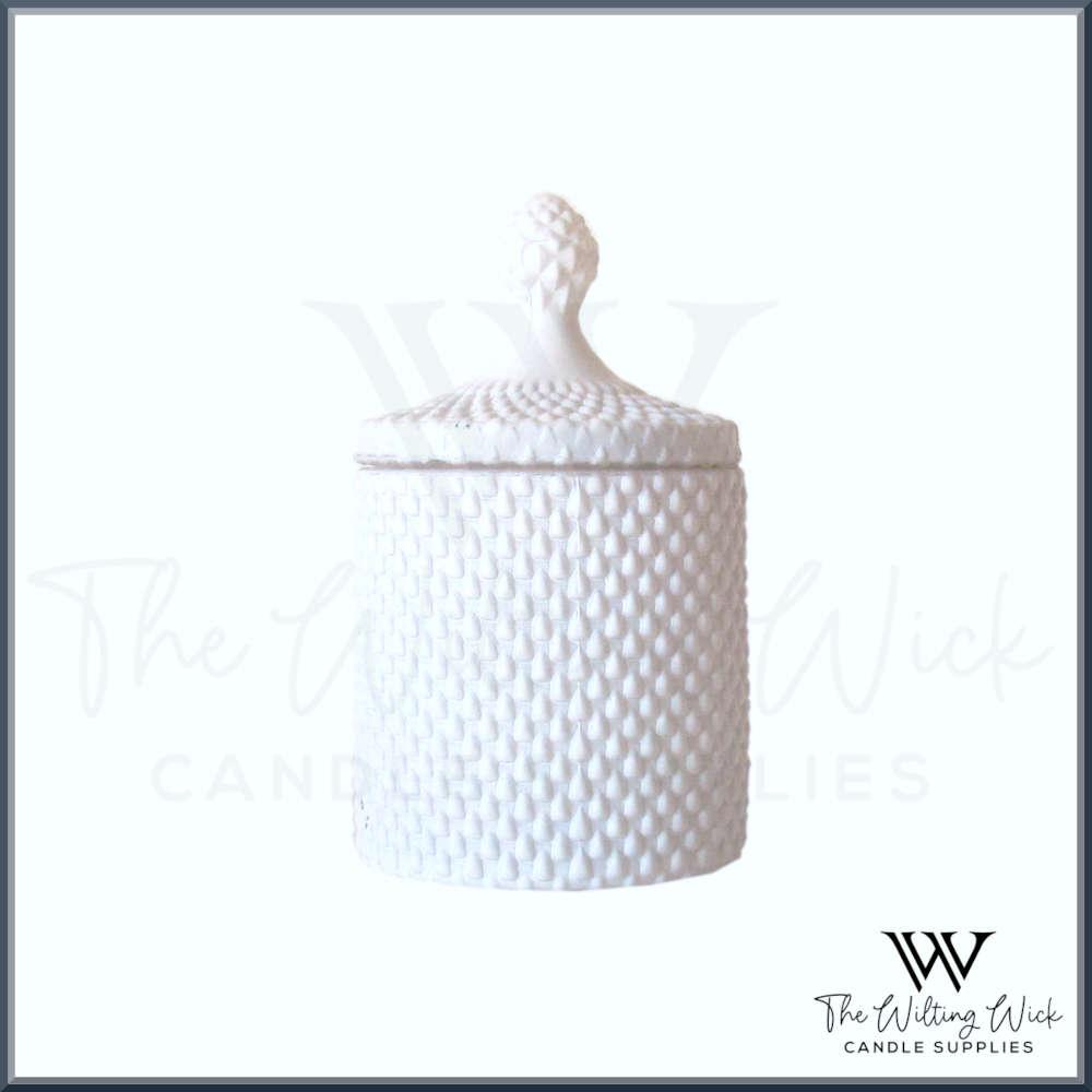 Matt White Teardrop Candle Jar