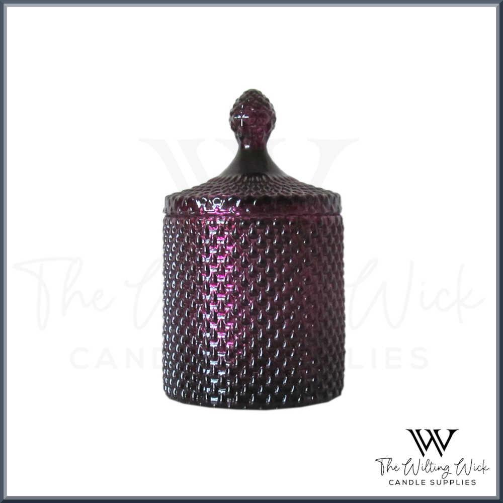 Metallic Purple Teardrop Jar