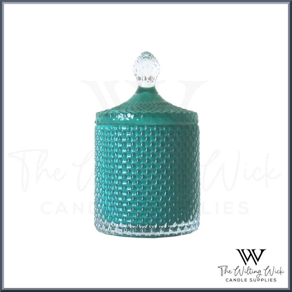 Tiffany Blue Teardrop Jar