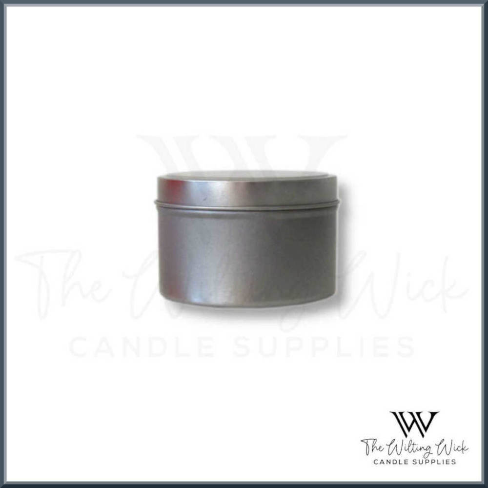 Silver Round Travel Tin
